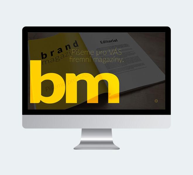 Brand magazine - webové stránky